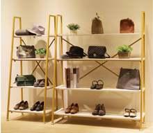 Полка для обуви упаковка витрина многоэтажная Золотая полка