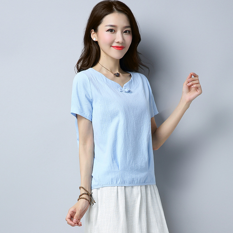 2018 été 2019 coréen basique T-shirt femmes décontracté coton dames haut sexy T-shirt mode lâche T-shirt pour les femmes vêtements