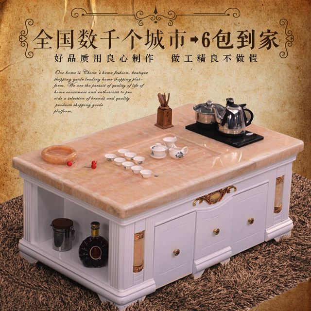 Marble Coffee Table Wood Tea Office Automatic Sheung Shui