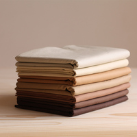 2016 Fashion High Quality Breathable Naturel Chocolate 100 Cotton Solid Color Cotton Fabric For Handmade DIY