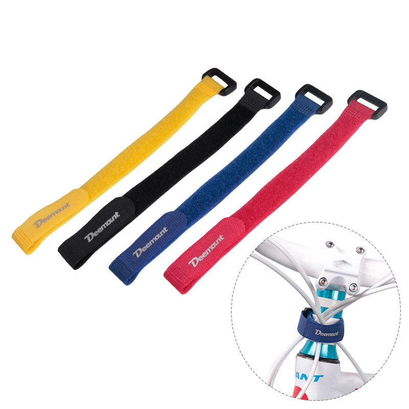 Cable-Tie Sticks Bike-Pump-Holder Magic-Tape Binding 2pcs Nylon-Strap Power-Wire-Management