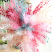 YOOROMER  dried natural flower bouquets colorful Lagurus ovatus bouquets&Uraria picta&rabbit tail grass bunches