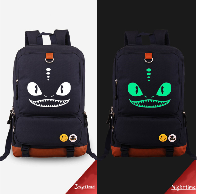 12 Inch How to train your dragon bag noctilucous Luminous backpack student bag notebook ipad backpack student bag