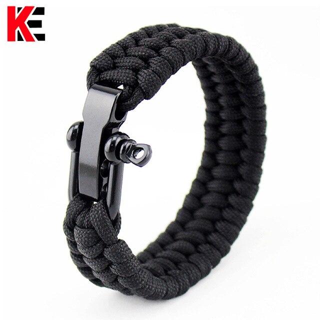 Outdoor Survival Edc Multi Tool Gear Paracord Bracelet Kit For Men Emergency Kits
