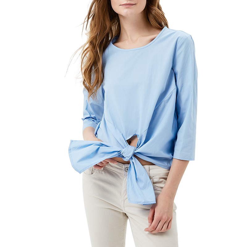 Фото - Blouses & Shirts MODIS M181W00377 woman blouse shirt blusas for female TmallFS contrast lace keyhole back blouse