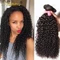 7A Malasio Rizado Extensiones de Cabello Nadula Pelo Sin Procesar Virginal Malasio Curly Hair Bundles 3 UNIDS Malasio Rizado Rizado de la Armadura