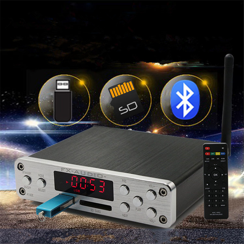 FX-AUDIO M-160E Bluetooth@4.0 Digital Audio Amplifier 160W*2 Input USB/SD/AUX/PC-USB Loseless Player For APE/WMA/WAV/FLAC/MP3