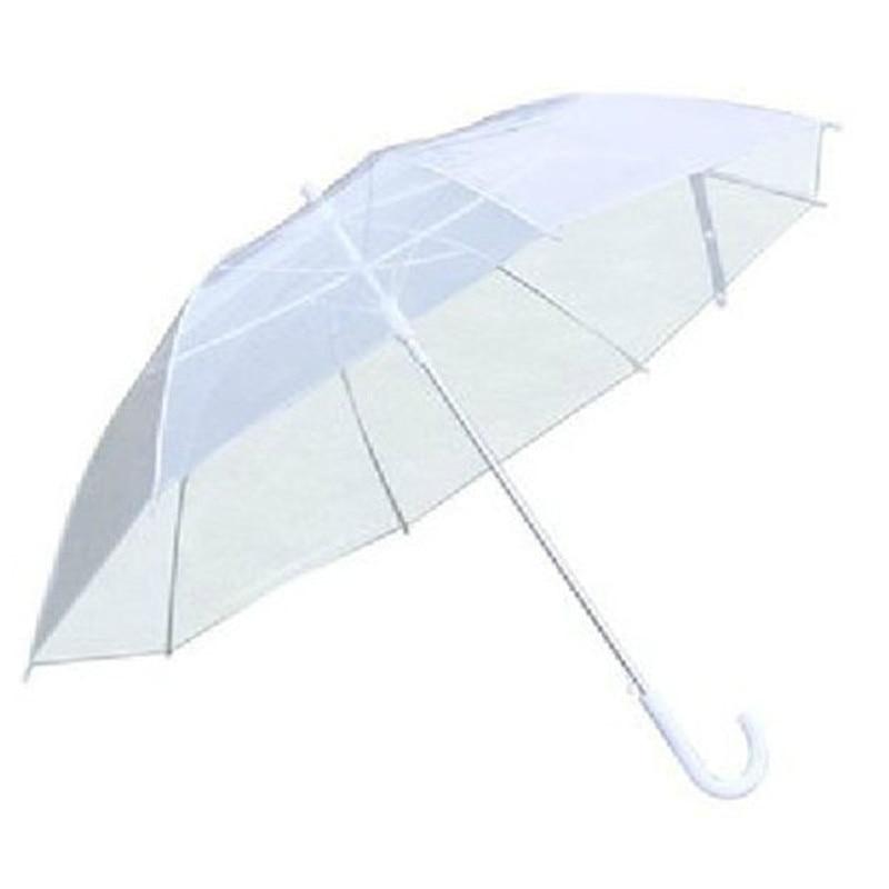 Long Transparent Clear Rain Umbrella Parasol PVC Dome for Wedding Party Favor