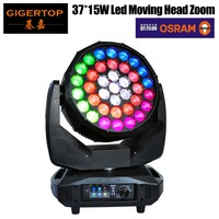 Gigertop TP L3715 650W High Power 37 x 15W RGBW Led Moving Head Zoom Light New Design 18/42 DMX Channel Sound/Auto Working