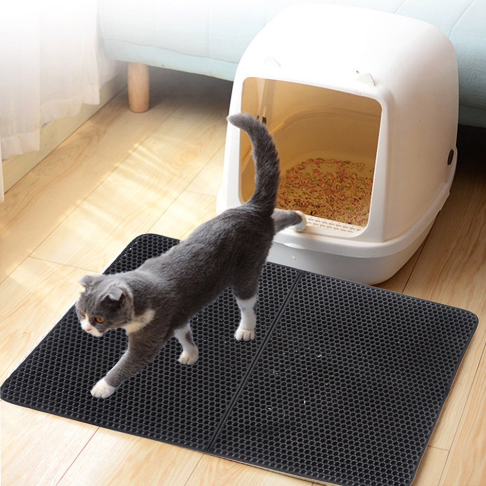 Waterproof Pet Cat Litter Mat Eva Double Layer Cat Litter Trapping Pet Litter Cat Mat Clean Pet Products For Cats Accessories (7)