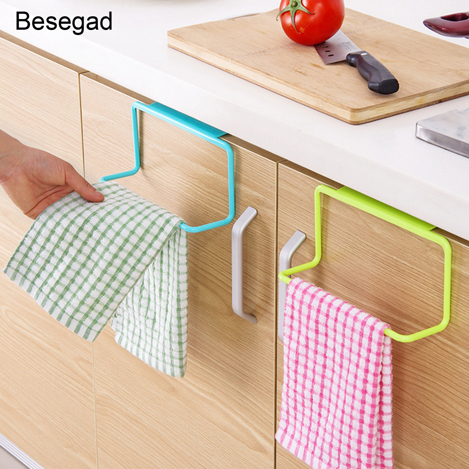 Behogar Multifunction Hanging Towel Holder Storage Rack Holder Hanger Shelf For Bathroom Kitchen Cupboard Cabinet Over Door