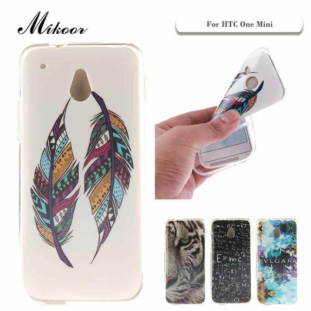 Mikoor Мода Окрашенные ТПУ Силиконовые Мягкий 4.3For HTC One Mini Case Для HTC One Mini Сотовый Телефон Case Cover