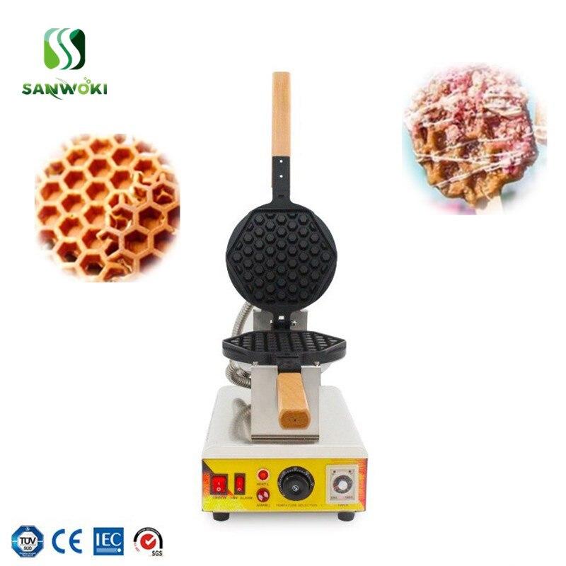 220v 110v honeycomb shape waffle Baker Machine bubble egg cake oven Electric waffle makers machine Electric