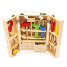Educational Building Tool Kits Set Kids Baby Early Learning Wooden Toy Model Wood Repair Tools Kids Pretend Play Toys(China)