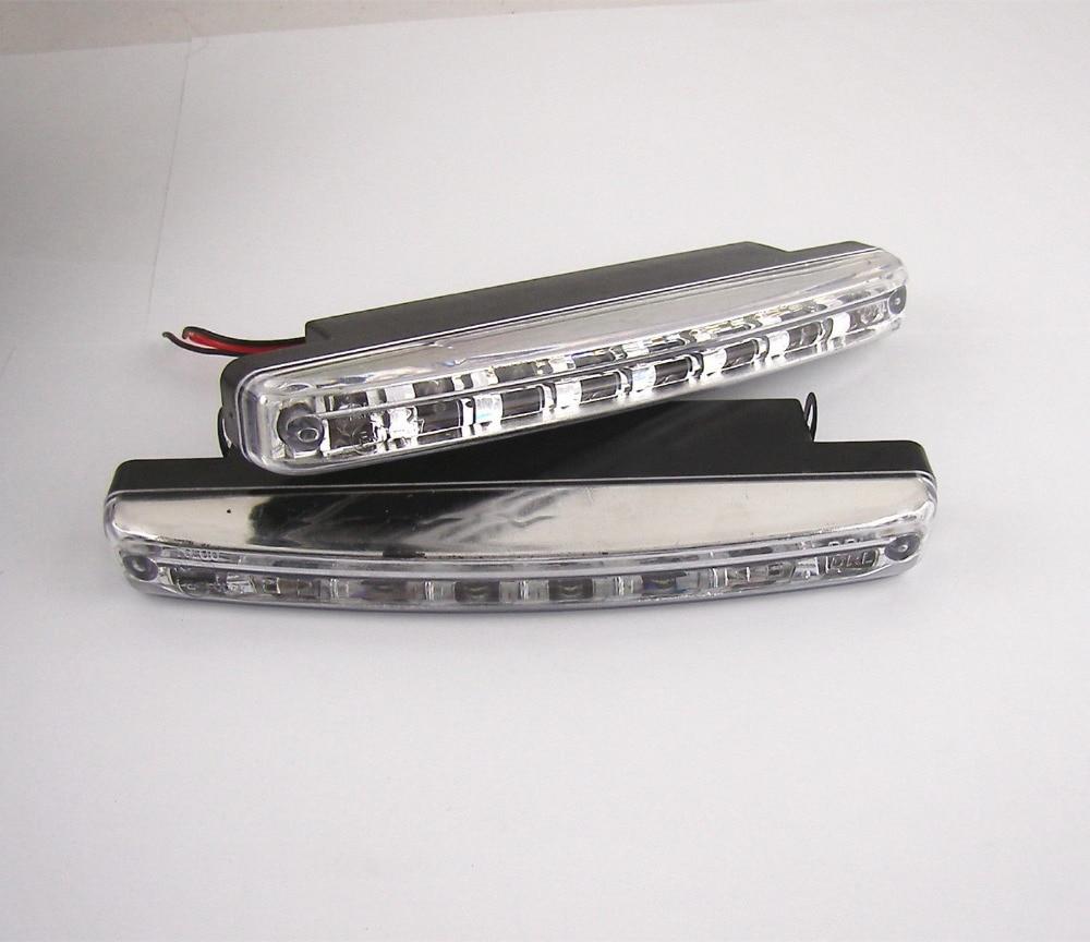 2db 8 LED-es nappali menetjelző lámpa DRL nappali fény ködlámpa - Autó világítás - Fénykép 4