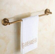 Montado en la pared sola barra de toalla antigüedad de toallas acabado latón accesorios de baño titular, toallero