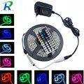 Светодиодная лента RiRi won RGB 5050 SMD  гибкая лента для подачи диода  12 В  60 светодиодов/м  4 м  9 м  набор питания переменного тока