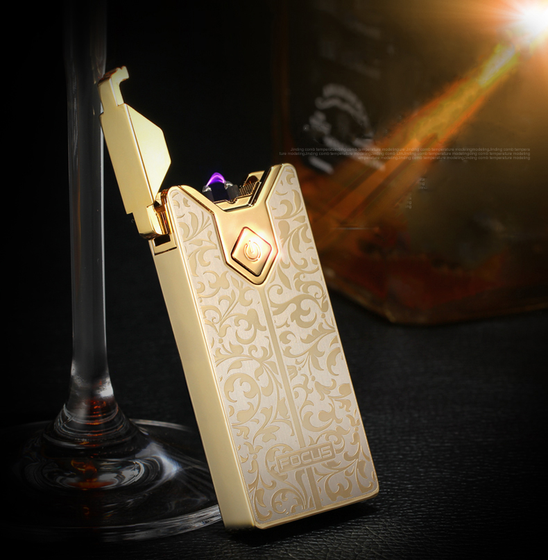 Focus Briquet USB Electric Arc Pulse Plasma Lighter For Man Charging Man With Gift Wind Male