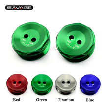 Front Fork Bolts Cover For KAWASAKI ZX-10R NINJA ZX10R 2011-2015 2012 2013 2014 Motorcycle Accessories CNC Decorative Top Cap цены