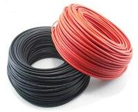 200 метров/рулон. 6mm2 солнечной кабеля. 10AWG. 1x6mm2 Солнечные фотоэлектрические кабель. TUV и ul сертификации. Черный или красный цвет