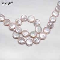 YYW высокое качество культивированный искусственный жемчуг в стиле барокко бусины, камешки натуральный розовый 11-12 мм, Продан около 14,5 дюймо...