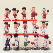 15 stks/partij Slam Dunk Cijfers Japan Anime PVC Action Figure Speelgoed Model Figurine Collection(China)