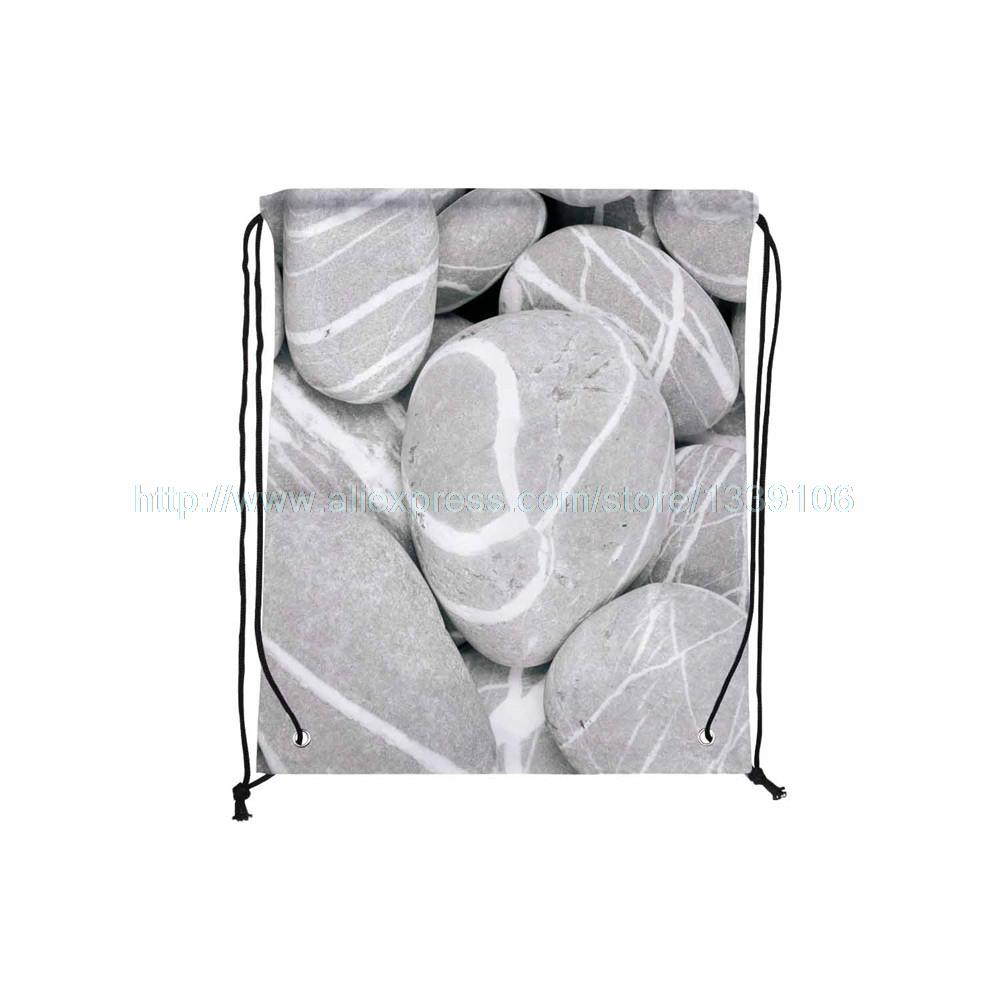 4pcs Grain stone print custom hanging nylon outdoor shoes couch clothes Towl book storage bag shopping bag drawstring backpack