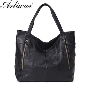 Arliwwi Cow Leather Big Women Shoulder Bags Genuine Totes 245c1aacba6fe