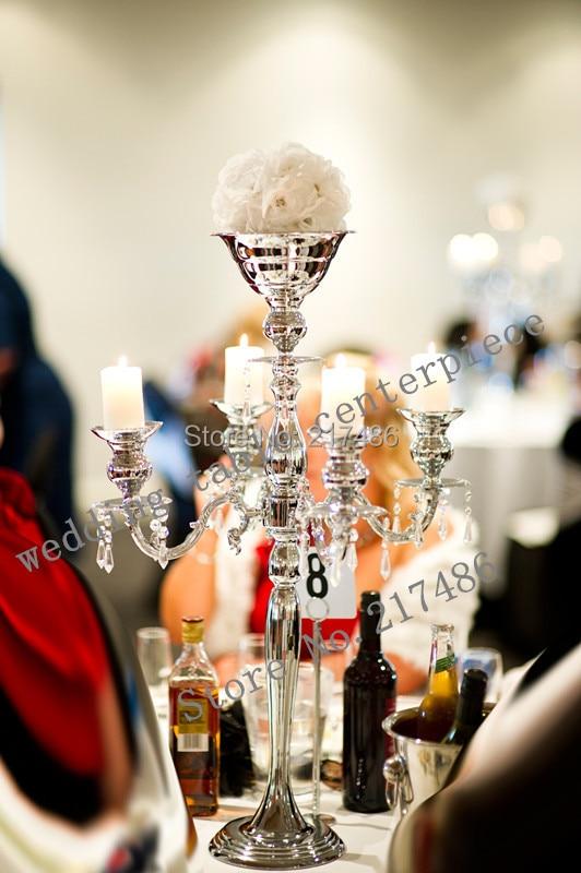 Wedding crystal candelabra five arm