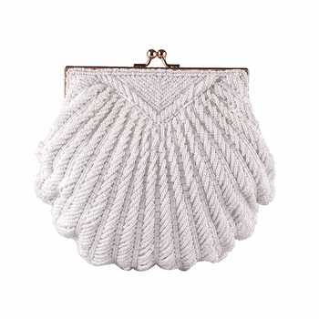 Evening Bags Women Clutch Bags Evening Clutch Bags Wedding Bridal Handbag Pearl Beaded Fashion Shell Chain Party Bags LI-383