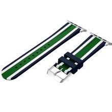 Pour apple watch silicone montre de sport bande de remplacement pour iwatch 38/42mm série 1/2 double couleur mixte i235.