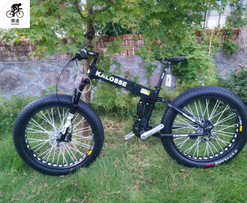 Fat Bike Us 587 8 Kalosse Hydraulic Brakes Fat Bicycle Snow Bike 26 4 Tires 24 27 30 Speed Diy Color Tyre Dirt Bike In Bicycle From Sports Entertainment