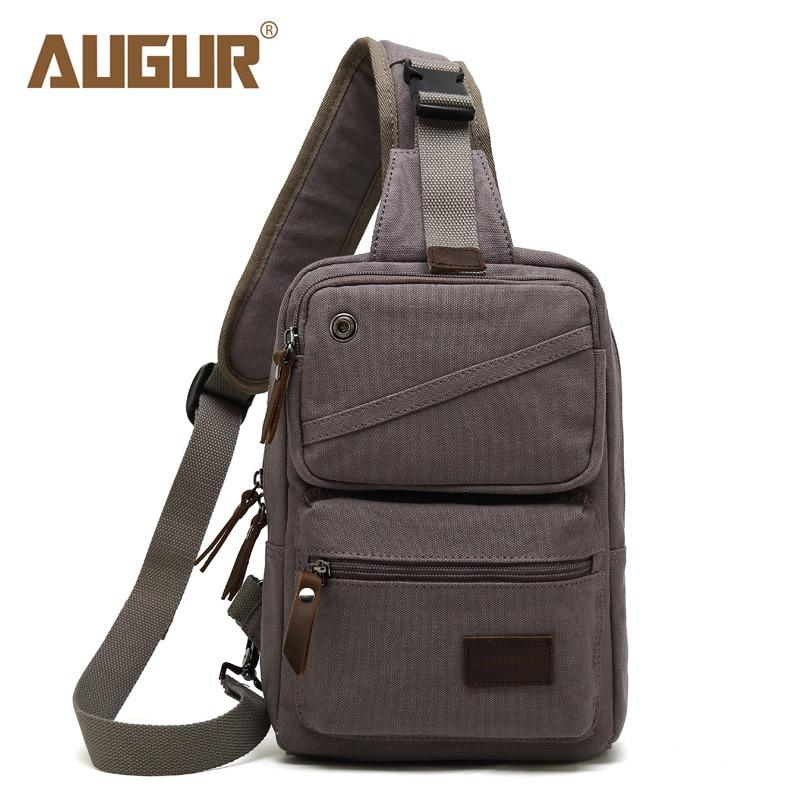 c112a3267ff9 Men Backpack Canvas Chest Bag Pack Vintage One Shoulder Strap Bagpack  Triangle Backpacks Single Travel Bags