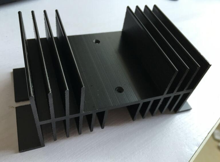 Heat Sink 125mm x 70mm x 50mm for Solid State Relay SSR black normally open single phase solid state relay ssr mgr 1 d48120 120a control dc ac 24 480v