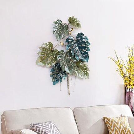 Американский Сельский тропических растений креативные Подвески гостиная стерео утюг настенные украшения диван задний план