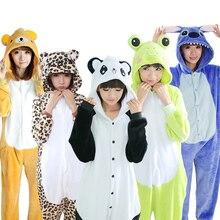 KIGUCOS כל אחד חורף חם Pyjama Cartoon Unicorn Onesies חתיכה אחת פיג מה סלעית הלבשת Kugurumi בעלי החיים פיג מה לנשים
