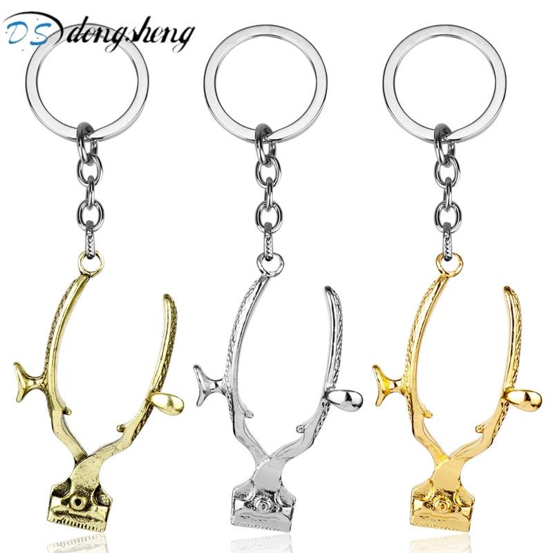 dongsheng Mens Jewelry 3D Shaver Pendants Keychain Barber Shop Hair Dresser Gifts Shave Razor Keyrings Car Key Chain Chaveiro-5