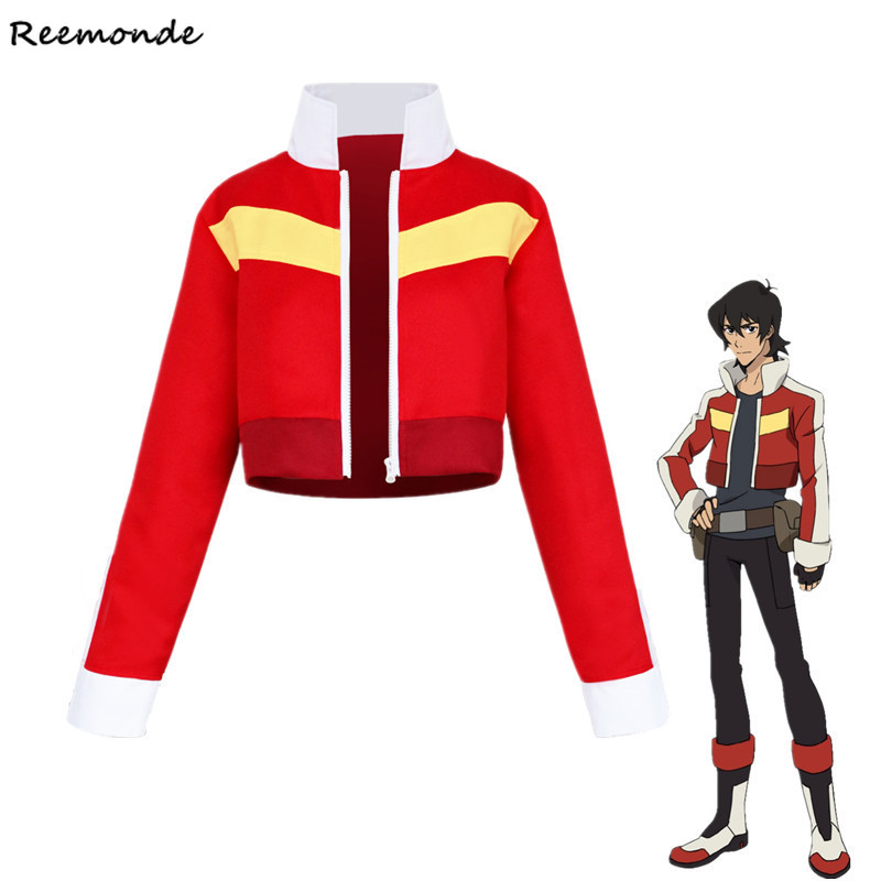 Voltron Legendary Defender Keith Lance Cosplay Costumes Red Jacket Coat Synthetic Wigs For Woman Man Halloween Carnival Outfit