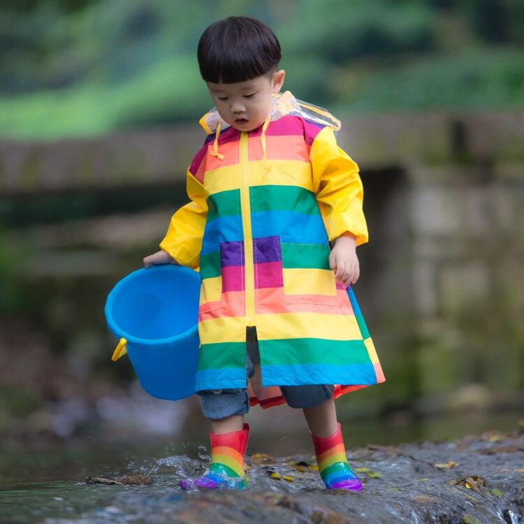 nice shoes 2019 clearance sale great fit HOENYKING Spring Autumn Rainbow Waterproof Girls Jacket ...
