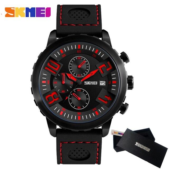 e7431e174d86 Skmei mens relojes Top marca de lujo impermeable reloj de cuarzo de  silicona de deporte Militar