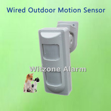 Проводной Двойной PIR и СВЧ комплекс Открытый Анти-маска pir детектор движения, животными, для дома Охранная сигнализация Системы