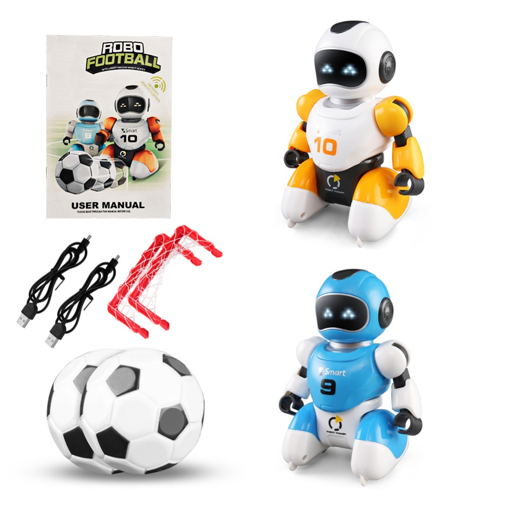 Smart Play Soccer Robot USB Charging Remote Control Battle Robot Toy Singing Dancing Simulation RC Intelligent Football Toys