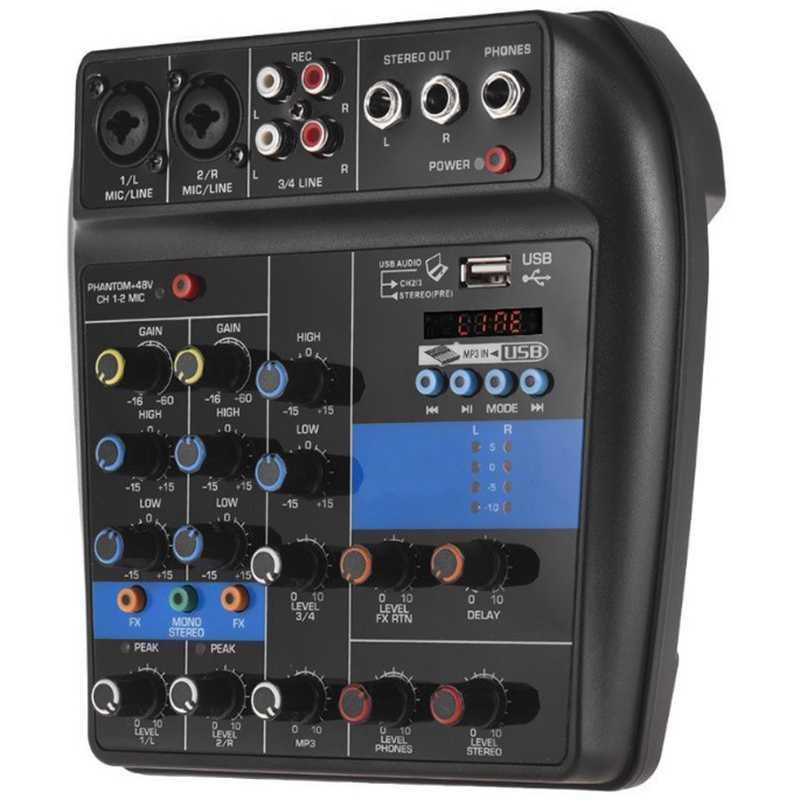Портативный Bluetooth A4 микшерная консоль звукомикшер запись 48В Мощность эффектов 4 Каналы микшер с Usb (ЕС Plu