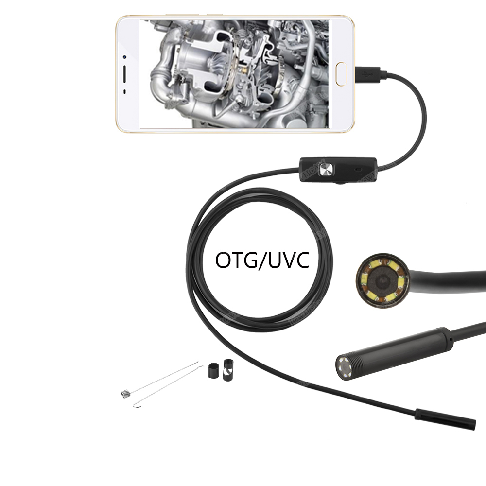 android usb endoscope 5 5mm lens 1m  2m  3 5m  5m snake wire borescopes mini camera for pc android