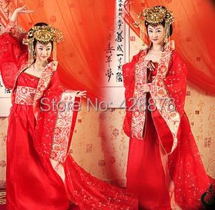 Princess Fairy Clothes Tang Suit Hanfu kostymklänning Kinesisk antik dräkt traditionell dräktklänning