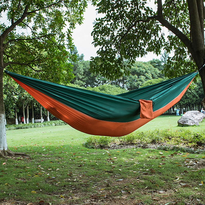 Outdoor Portable Parachute Fabric Camping Hammock Survival Garden Leisure Hamac swing Travel Hiking Double Person Hamak Furnitue fashion parachute fabric hammock double person portable mosquito net hammock outdoor furniture camping travel garden swing hamak
