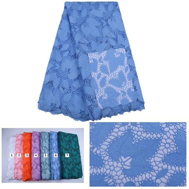 2019 Latest Guipure Lace Cord Lace Embroiderey French African Cord Lace Fabric High Quality Nigeria Lace Fabric For WeddingA1668 1