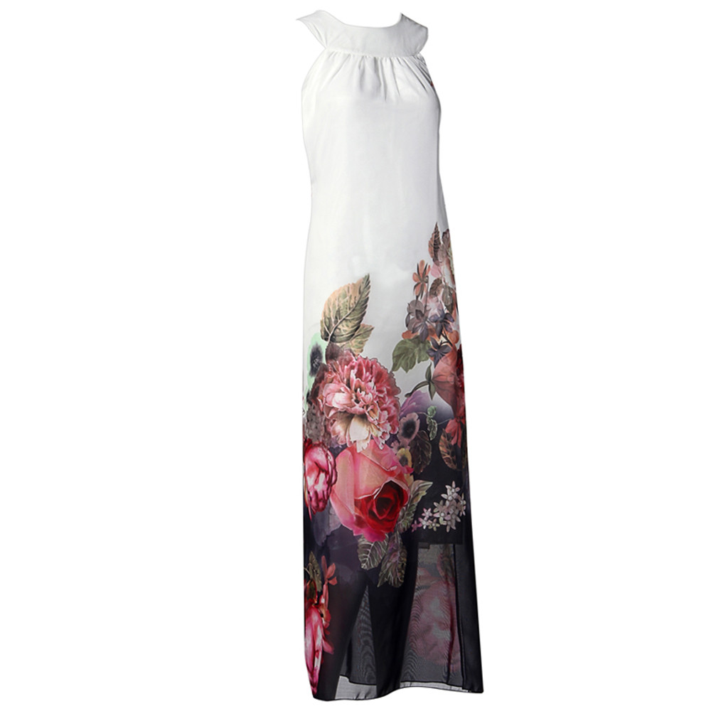 Chiffon Summer Floral Long Dresses