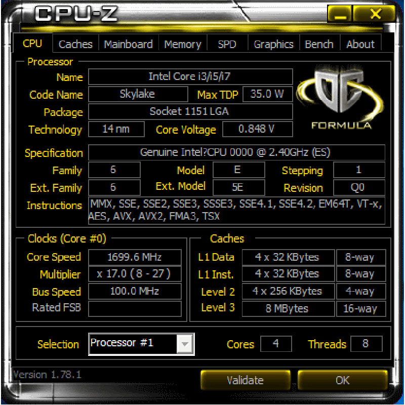 Inżynierii wersja ES podstawowych I7 QHVX 2.4G 35W czterordzeniowy quad-CORE 8 gwint CPU lepiej niż QHQG rdzeń graficzny HD530