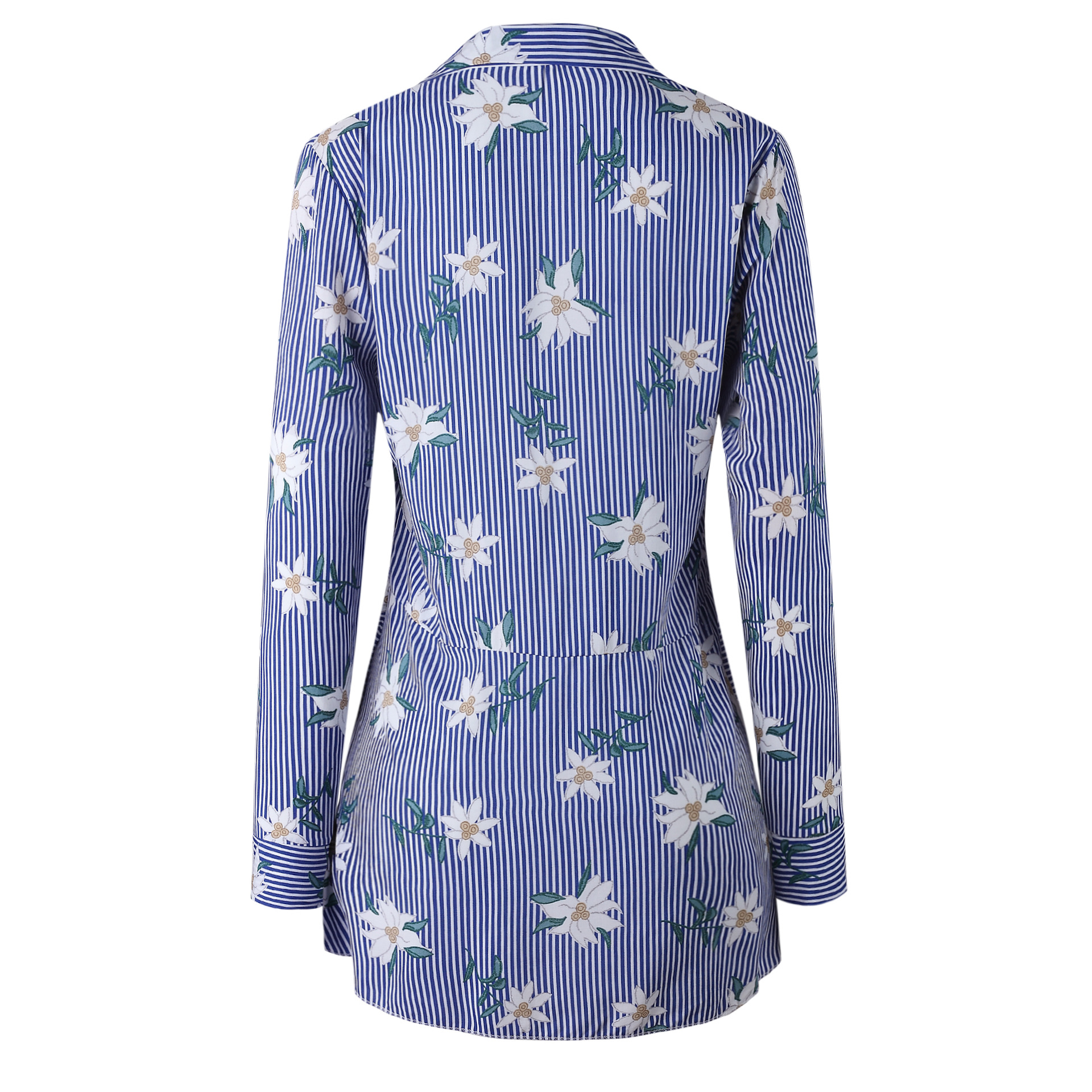 spring blouses turn-down collar female shirt women top plus size harajuku floral tops long sleeve woman blouse new fashion